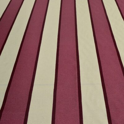 Burgundy Stripe - Spanish Cotton