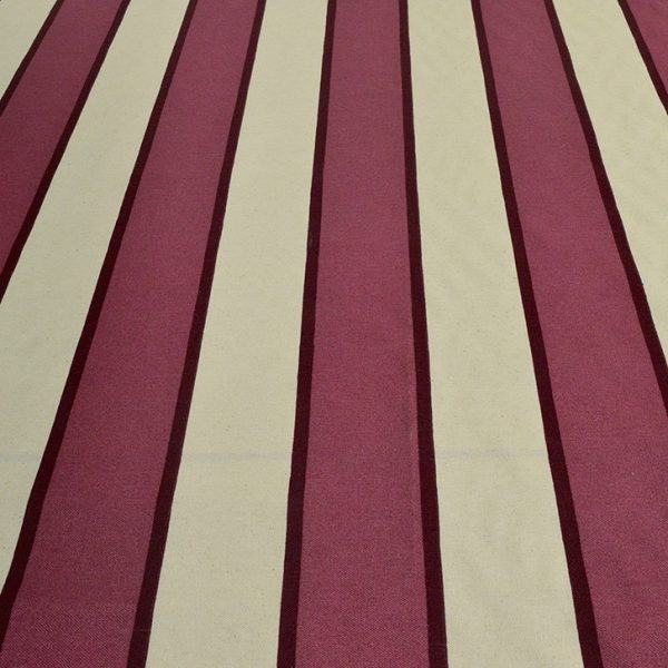 Burgundy Stripe - Spanish Cotton