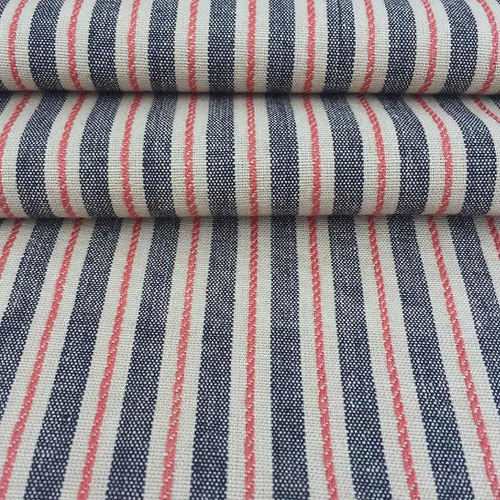Midnight - Striped Cotton