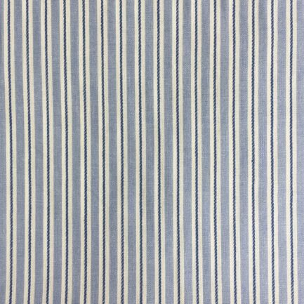 Sky Blue - Striped Cotton
