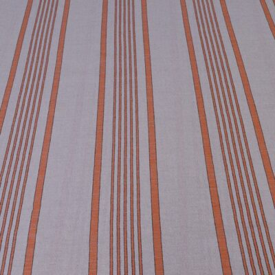 Orange Ticking - wide width ticking fabric Spanish Linen