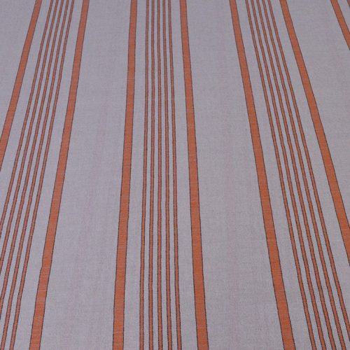 Orange Ticking - wide width ticking fabric Spanish Linen