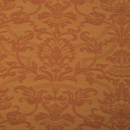 Burnt Orange Damask - Polyester