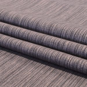 Charcoal Streaks - Linen Polyester