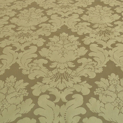 Olive French Damask - Cotton