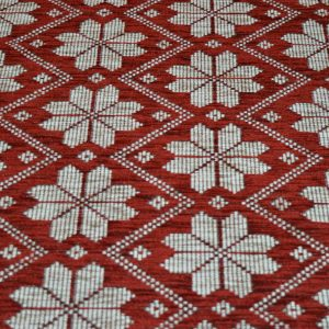 Red Snow Flakes - Chenille