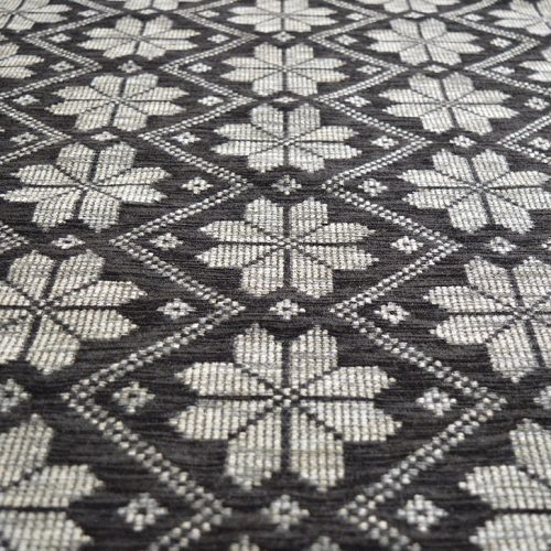 Grey Snow Flakes - Chenille