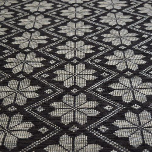Black Snow Flakes - Chenille