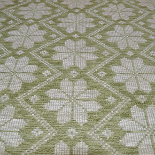Green Snow Flakes - Chenille