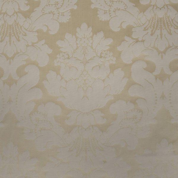 Ivory Cotton Damask