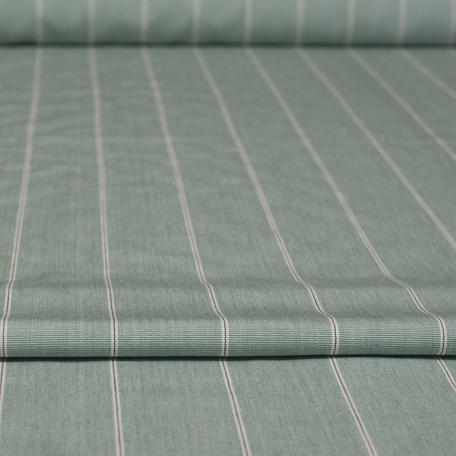 Seafoam Pinstripe - Cotton