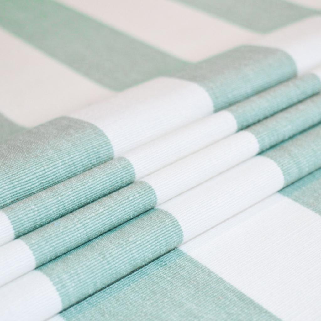 Shoreline Seafoam - Striped Cotton