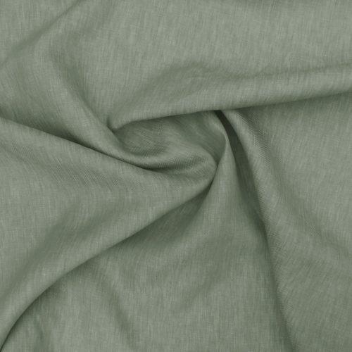 Green Curtain Fabric - Changeant Mint - Belgian Linen
