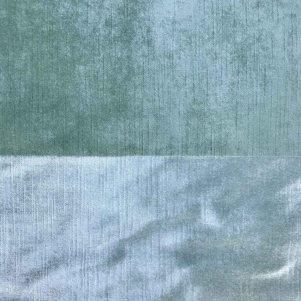 luxe green striped velvet