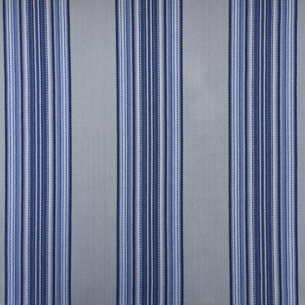 blue striped cotton fabric