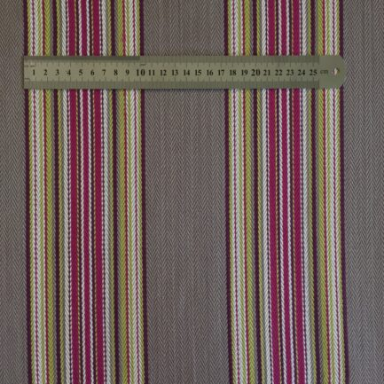 FH712 Weekend Plum - French Striped 100% Cotton
