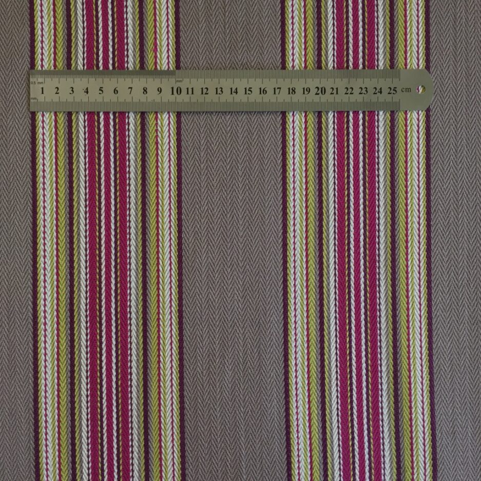 Weekend Plum - French Striped Cotton