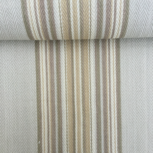 Beige/Cream Striped Cotton Fabric