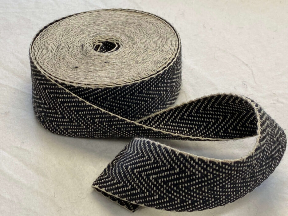Upholstery Webbing - Herringbone Weave Black/White AVAILABLE ON BACKORDER