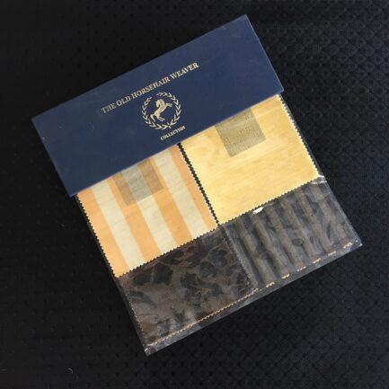 Black Brocade - Horse Hair Fabric