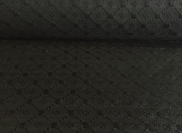 Black Brocade - Horse Hair Fabric