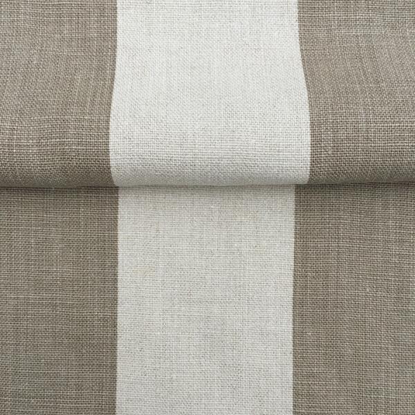 Belgian 100% linen - Natural Stone Stripe