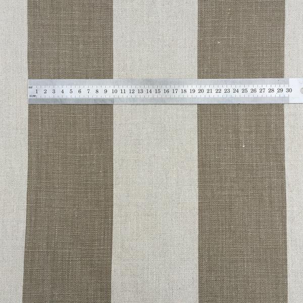 Belgian Natural Stone Stripe - 100% Linen
