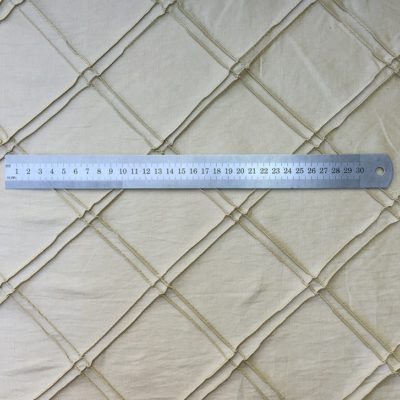 Diamond Pintuck - Beige Silk