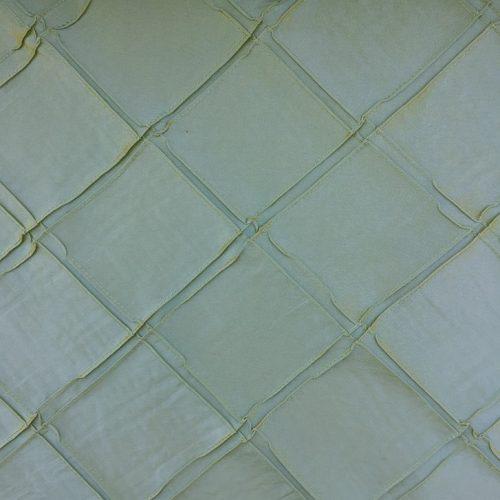 Diamond Pintuck - Green Moss Silk