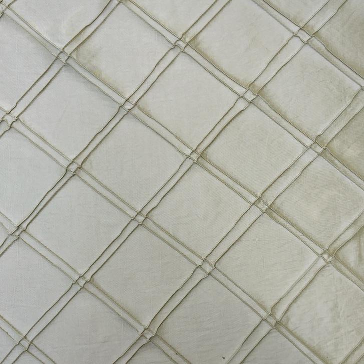 Diamond Pintuck - Beige Silk
