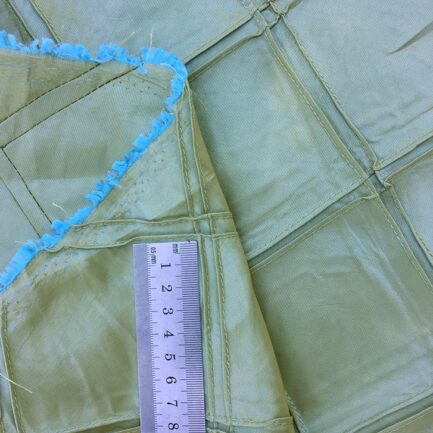 Diamond Pintuck - Green Moss Taffeta