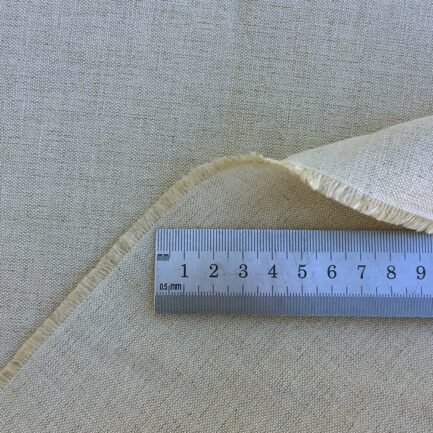 Oatmeal - Belgian Linen Cotton Fabric