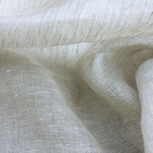 Salt and Pepper Belgian Linen Sheer