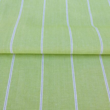 Apple Green Pinstripe - Cotton