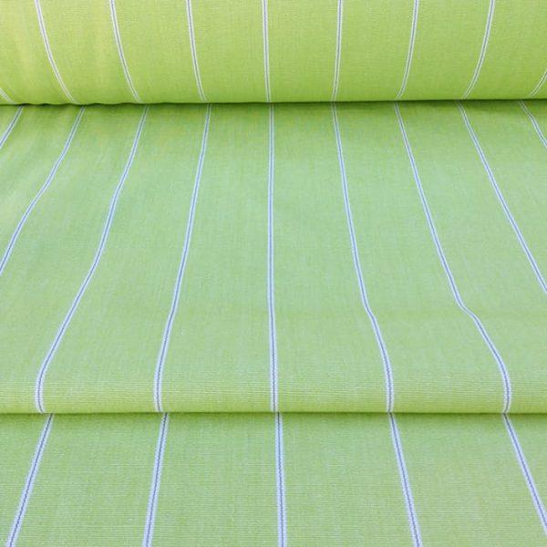 Apple Green Pinstripe - Cotton