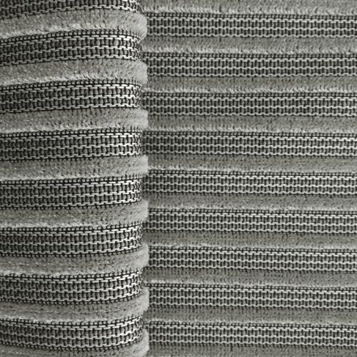 Silver Striped Velvet