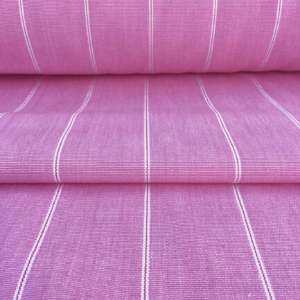 Candy Pink Pinstripe - Cotton