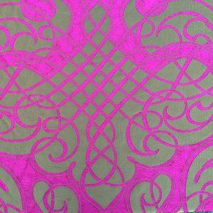 cotton chenille silk