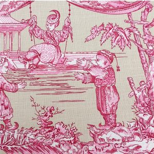 pink toile 1 cotton
