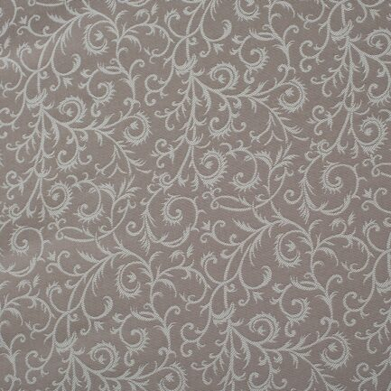 Coffee Tracery – Cotton Brocade