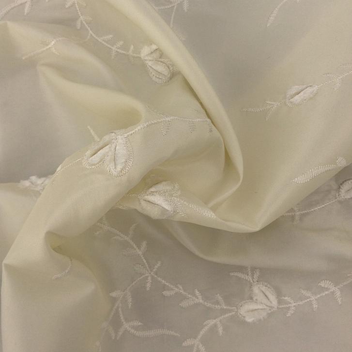 Ivory Embroidery - Taffeta