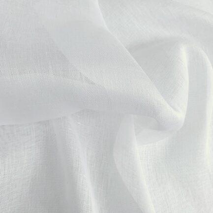 Blanc Snow Sheer - Belgian Linen