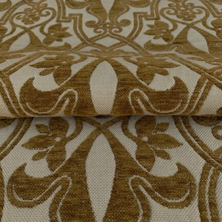 Cinnamon Brocade - 100% Wool