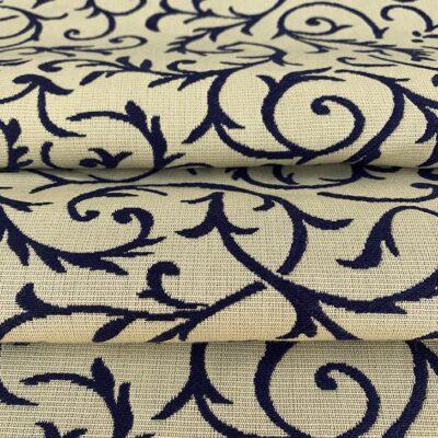 Blue Tracery - Cotton Brocade