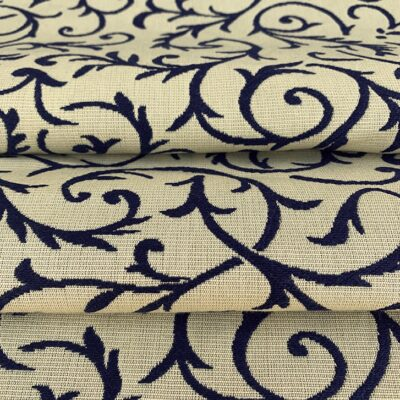 Blue Tracery - Cotton Brocade
