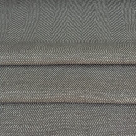 Grey Herringbone - Linen/Cotton
