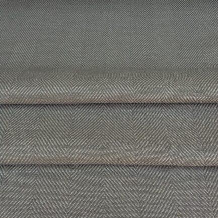 Grey Herringbone - Linen/Cotton