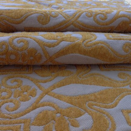 Gothic Gold Brocade - 100% Wool