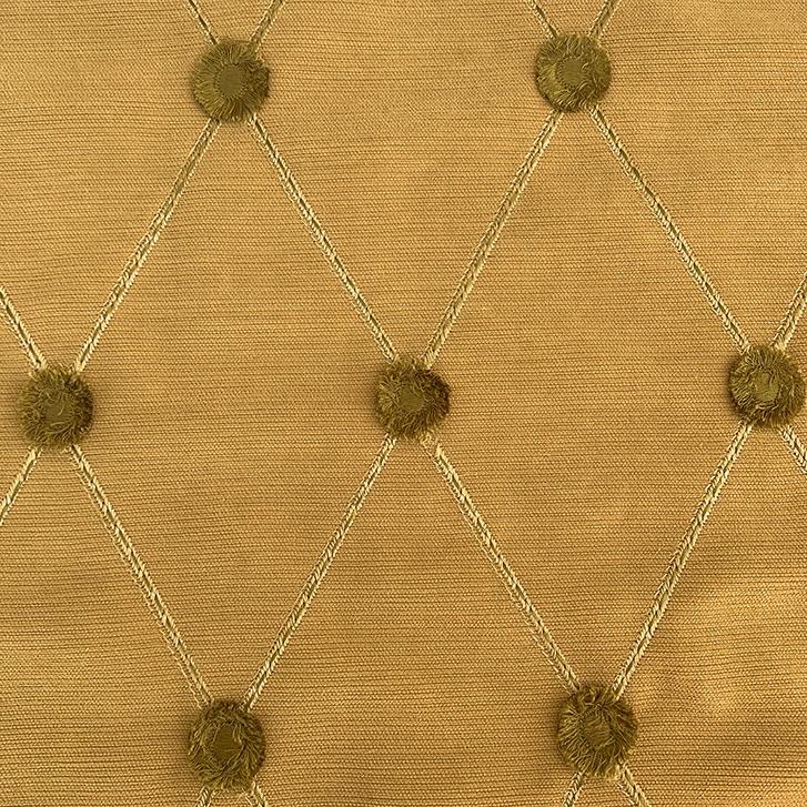 Deep Button Gold - Silk/Cotton