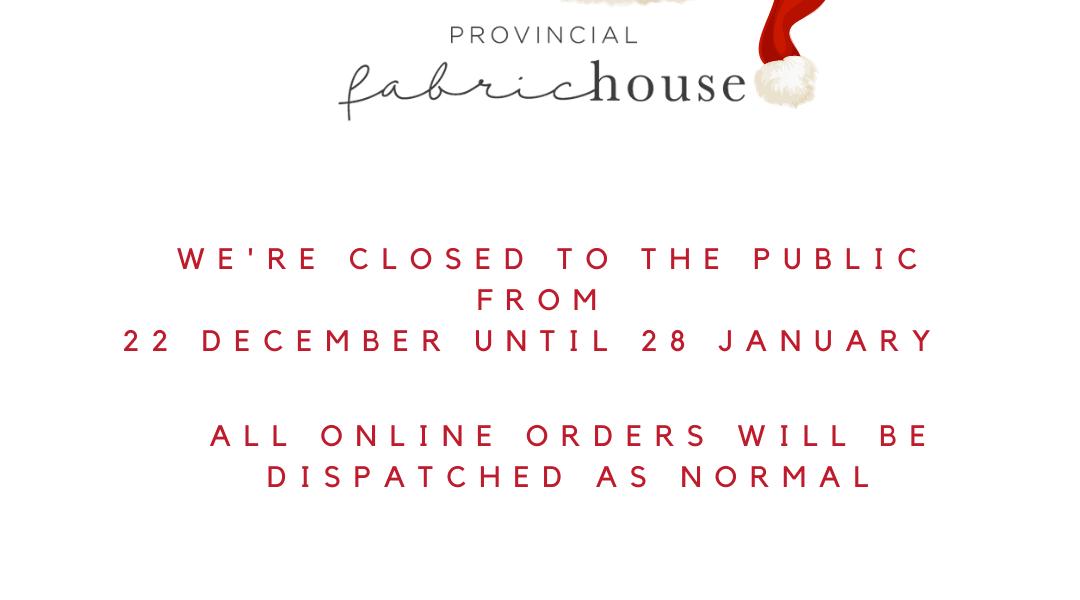 2020 Holiday Store Closure